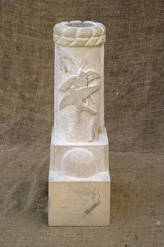 New carved  false spout with flight of swallows (daylight)