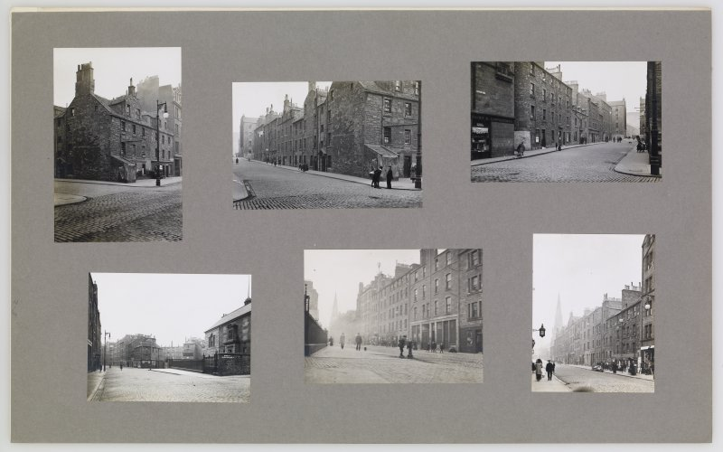 Photographs of Gifford Park and Buccleuch Street area. Front cover has pencil notes describing each photograph.  Edinburgh Photographic Society Survey of Edinburgh and District, Ward XIV George Square
