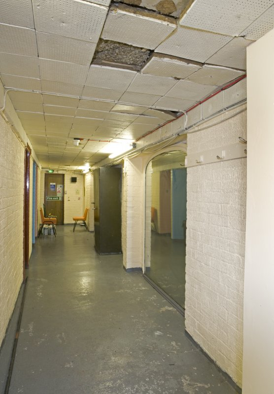 View of backstage corridor in Arts Guild Theatre, Campbell Street, Greenock.