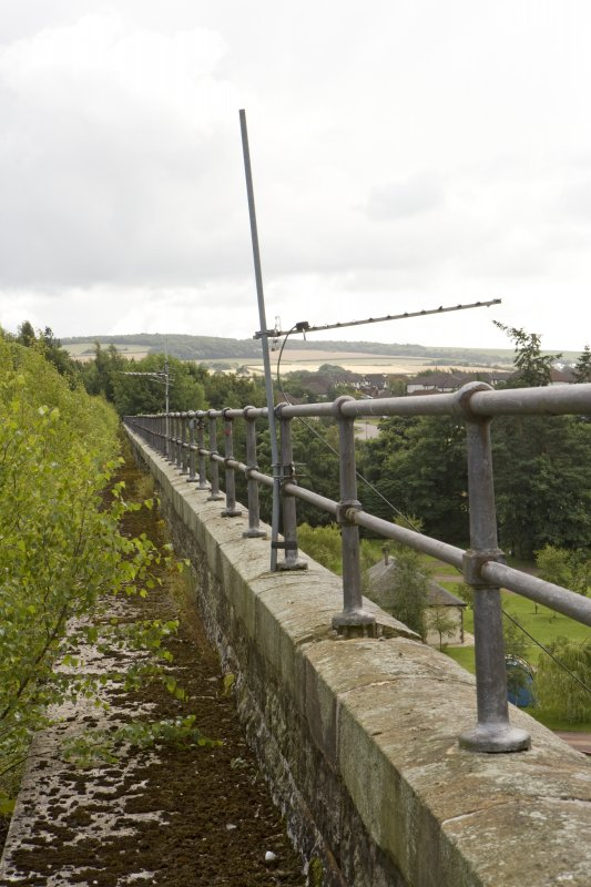 Detail of S side bridge parapet and handrail.
