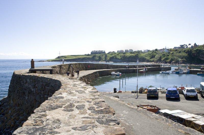 S wall of harbour, view from NE