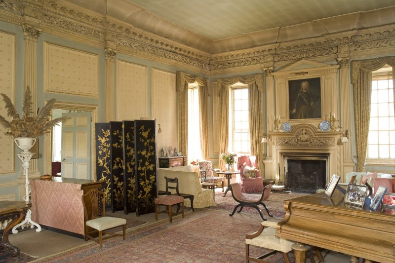 Interior. 1st floor, drawing room, view from SE