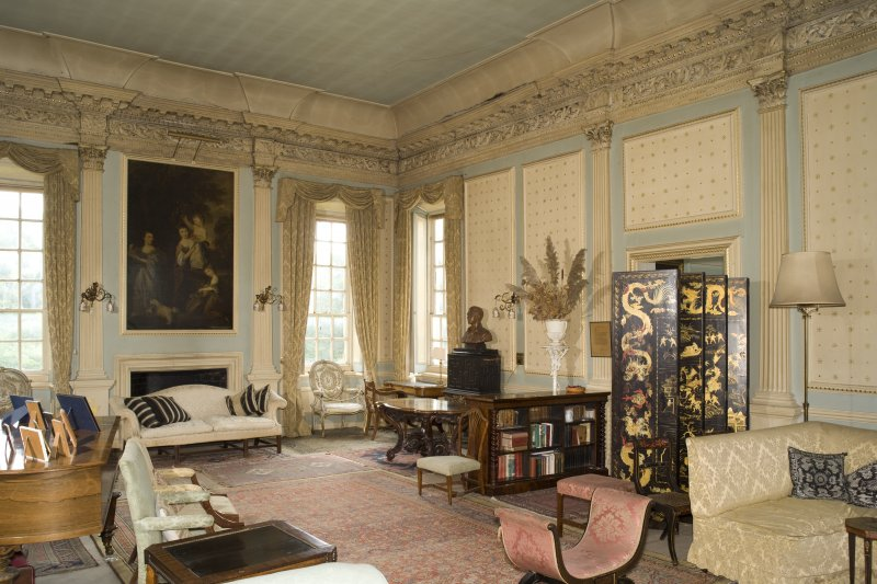 Interior. 1st floor, drawing room, view from NE