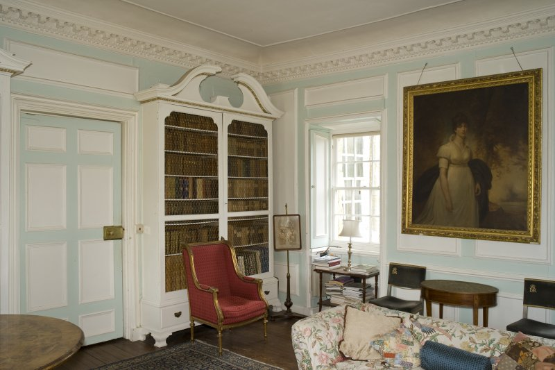Interior. 1st floor, withdrawing room, view from NW