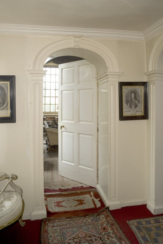 Interior. 1st floor, view of doorway to drawing room