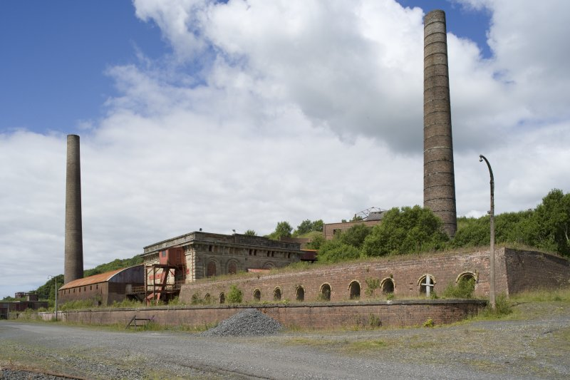View of Waterside Ironworks, Dalmellington, from SE.