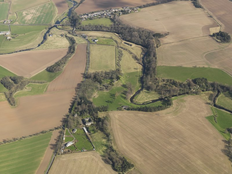 Oblique aerial view of Blackadder House and Allanbank farmstead, taken from the W.
