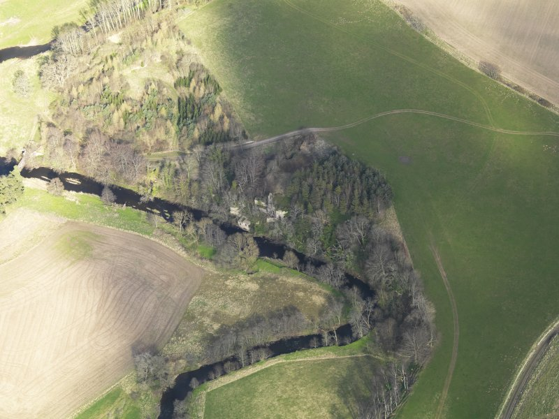 Oblique aerial view of Blackadder House, taken from the SW.