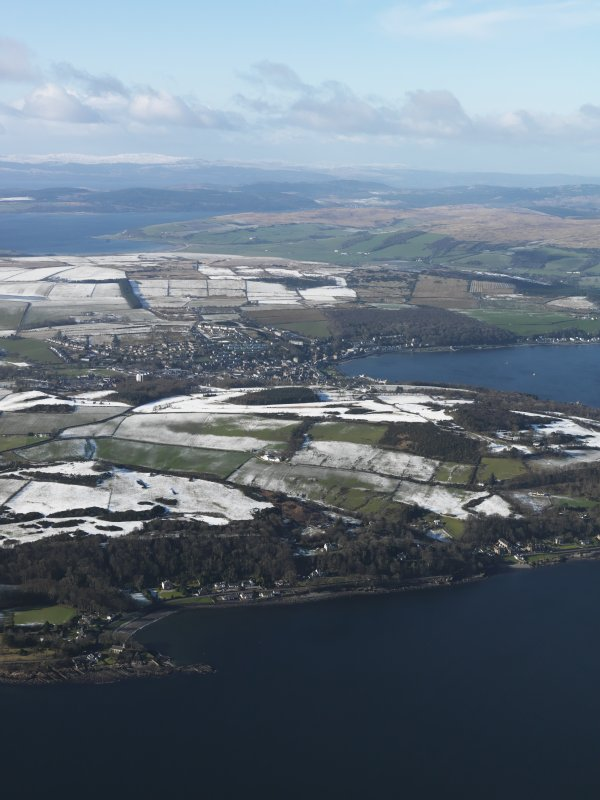 General oblique aerial view of Rothesay, taken from the ESE.