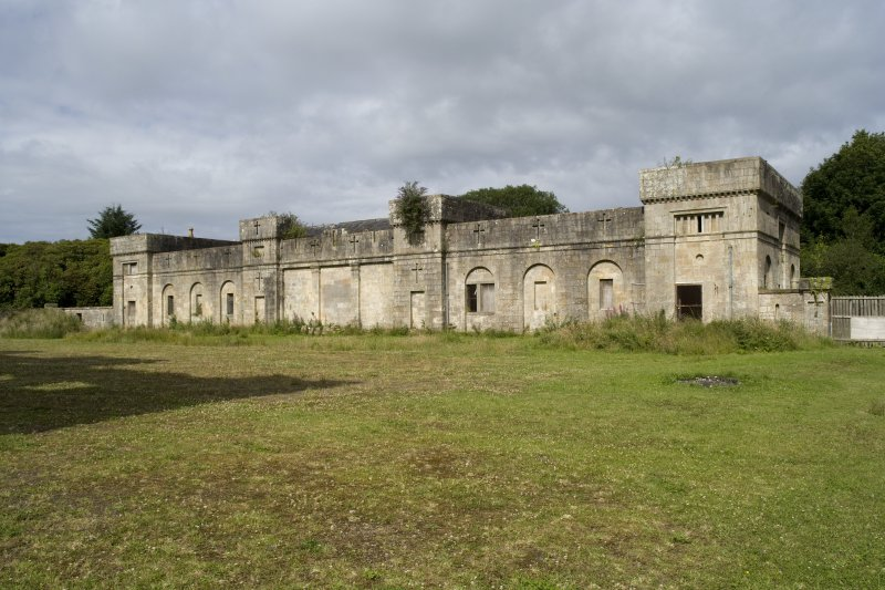 Stable block, view from courtyard to E