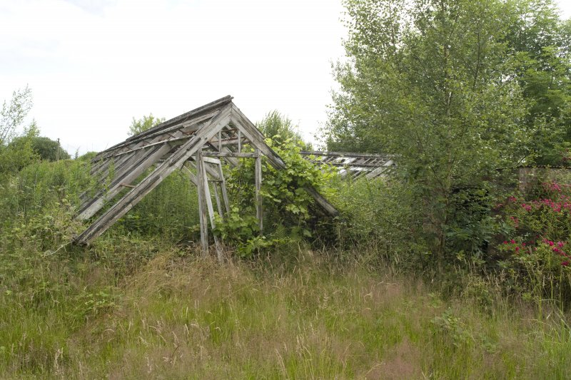 Remains of glass-house, view from SW