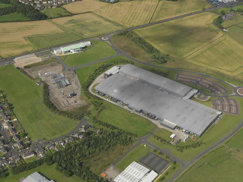 Oblique aerial view of Inchinnan Drive and the India of Inchinnan factory, taken from the SSW.