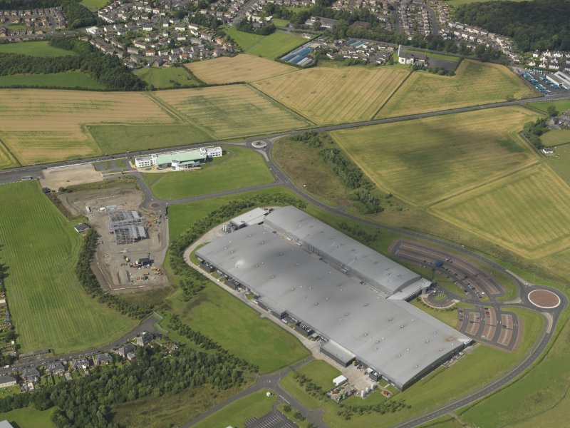 Oblique aerial view of Inchinnan Drive and the India of Inchinnan factory, taken from the S.