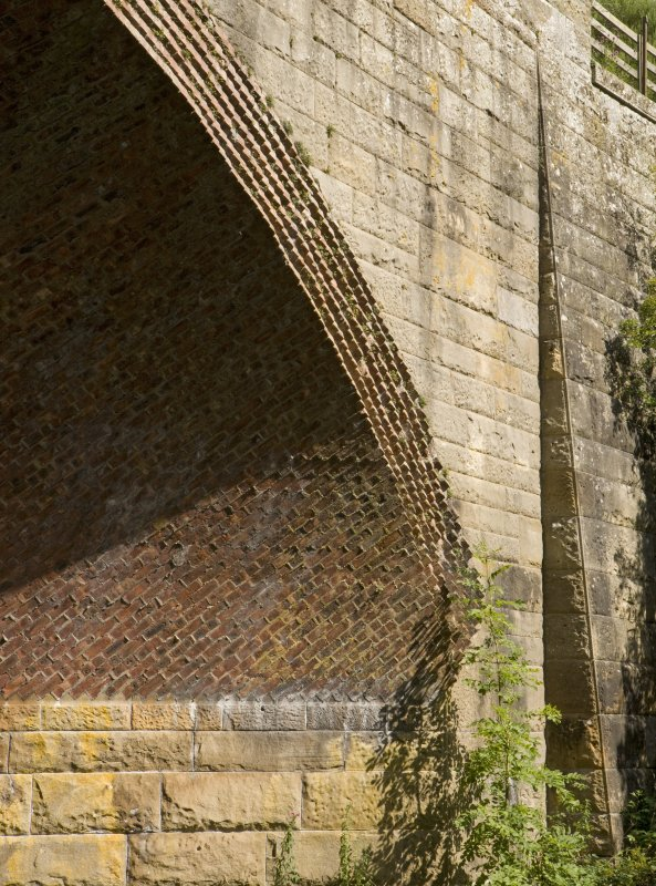 Detail of angled brickwork on skew arch.