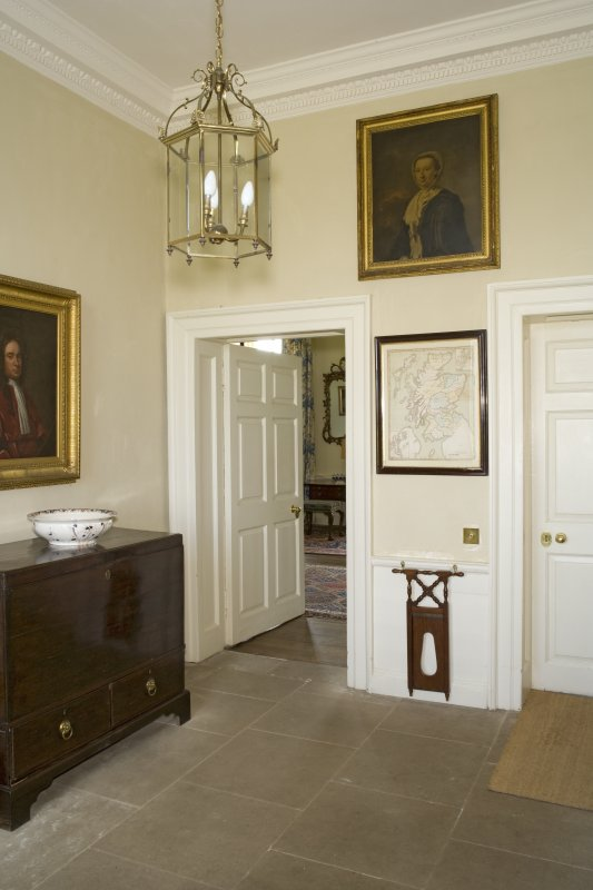 Interior. 1st floor, entrance hall, view from NE