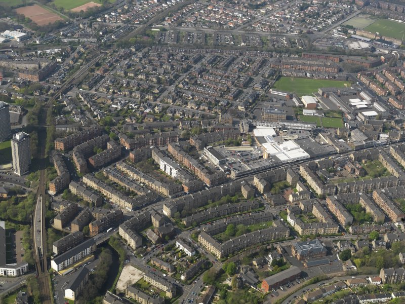 General oblique aerial view centred on Shawlands, taken from the SE.