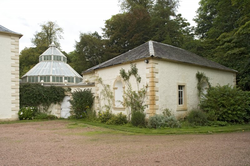 Conservatory and E pavilion, view from SW