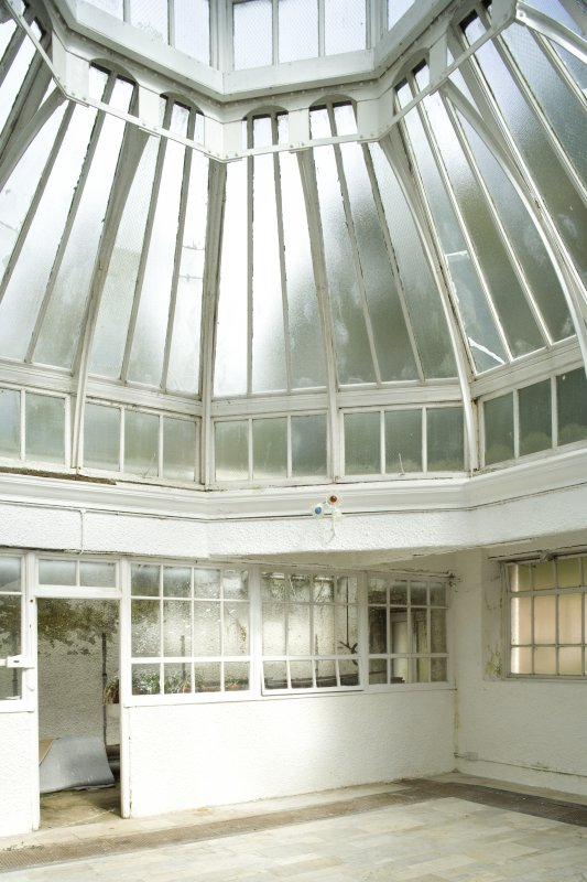 Interior. Ground floor, conservatory, view from SW