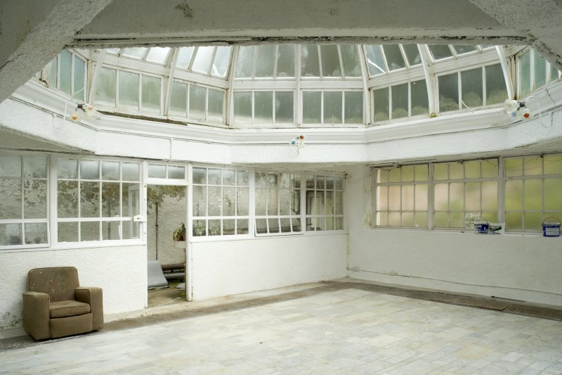 Interior. Ground floor, conservatory, view from SSW
