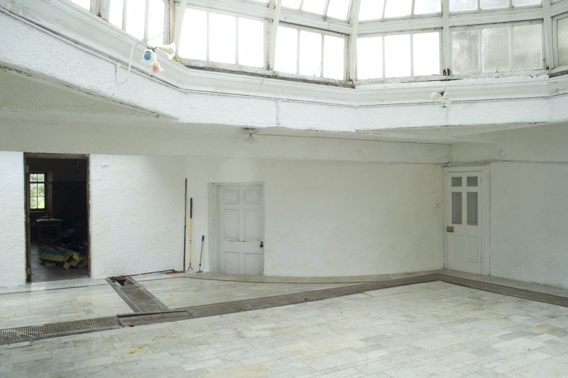 Interior. Ground floor, conservatory, view from NE showing original outside wall of hoouse