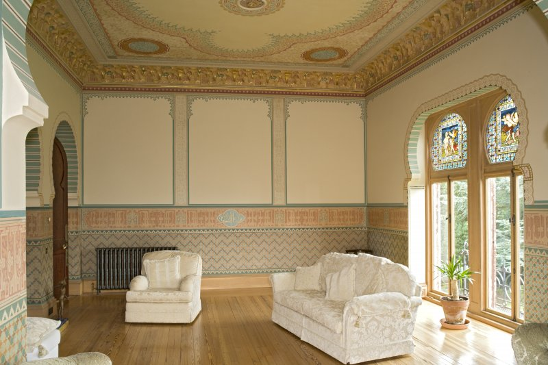 Interior. 1st floor, drawing room, view from W
