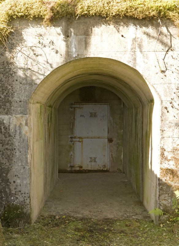 Detail of the entrance to the access tunnel. Royal Navy fuel tank, Inchindown.