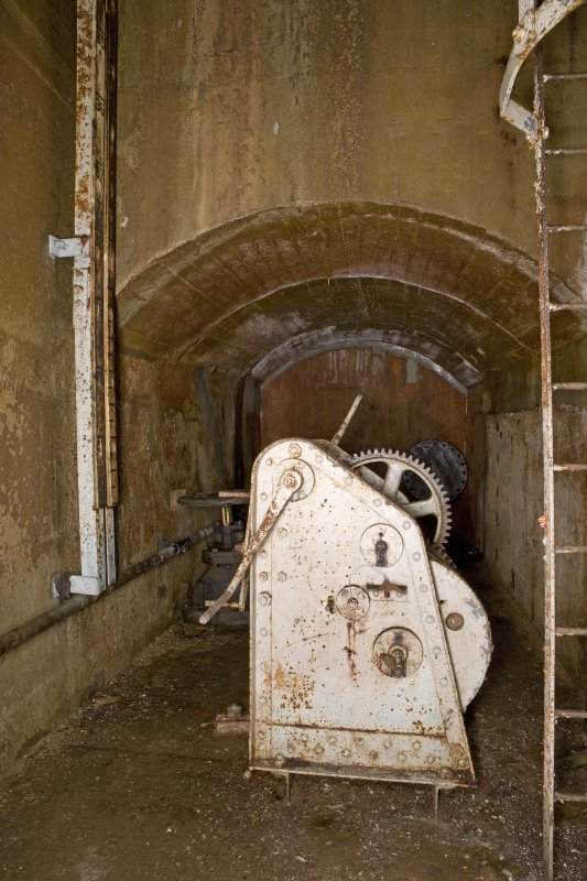 Interior of valve and winch gear chamber.