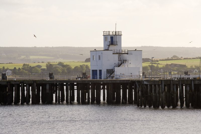 View from NE of the control tower and part of the pier.
