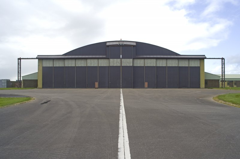 General view from E of Gaydon aircraft hangar entrance.