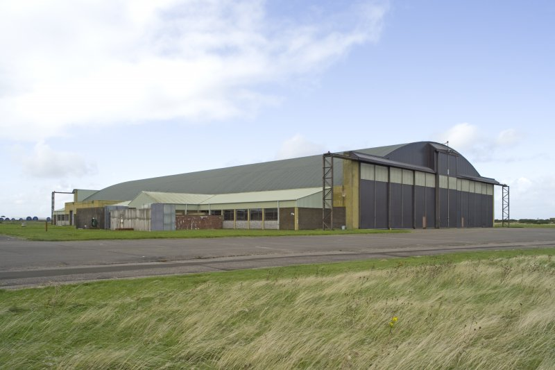 General view from SE of Gaydon aircraft hangar.
