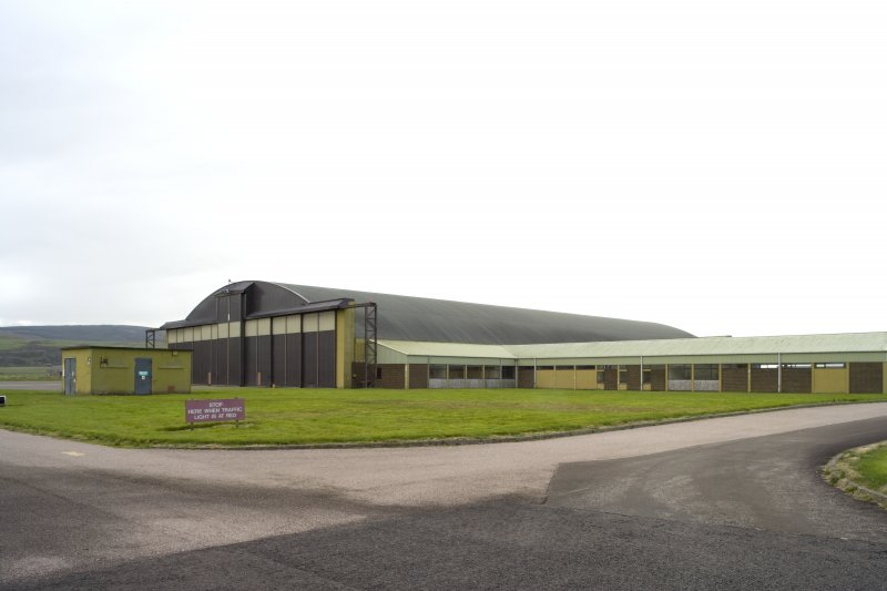 General view of Gaydon aircraft hangar from NE,