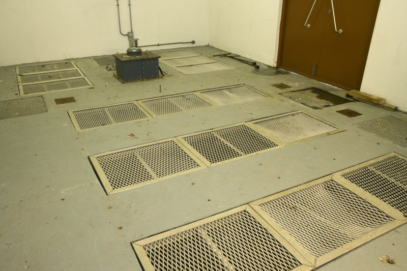 Interior NSWU 2 paraloft building showing airing vents to assist is parachure drying located in the floor.