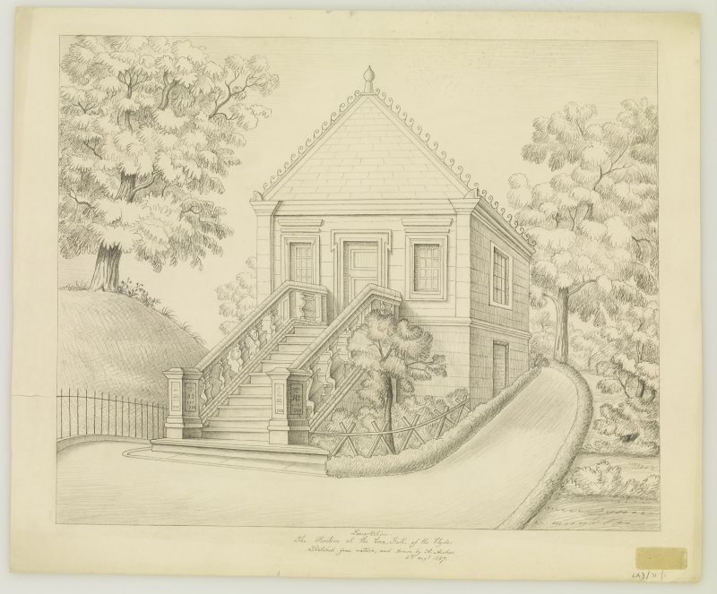 Drawing showing view from South-West.