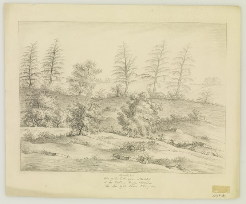 Sketch showing general view. Drawing A. Archer 1837