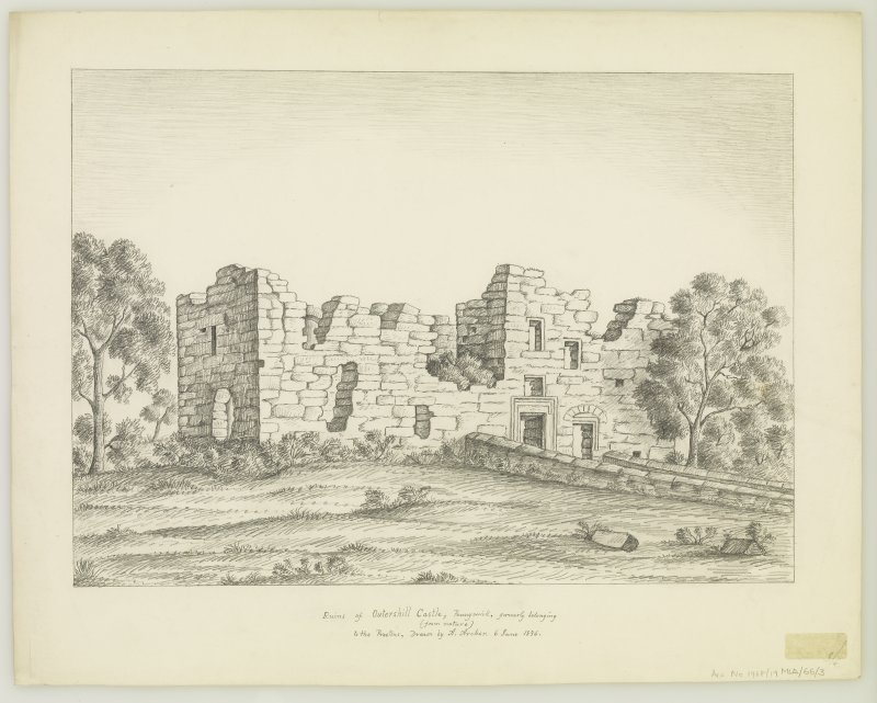 Drawing of ruins of the castle.