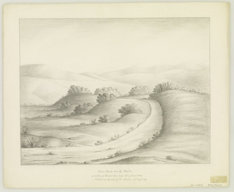 Sketch view of archaeological landscape.