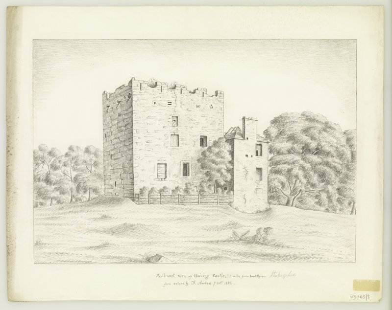 Drawing showing view from SW.