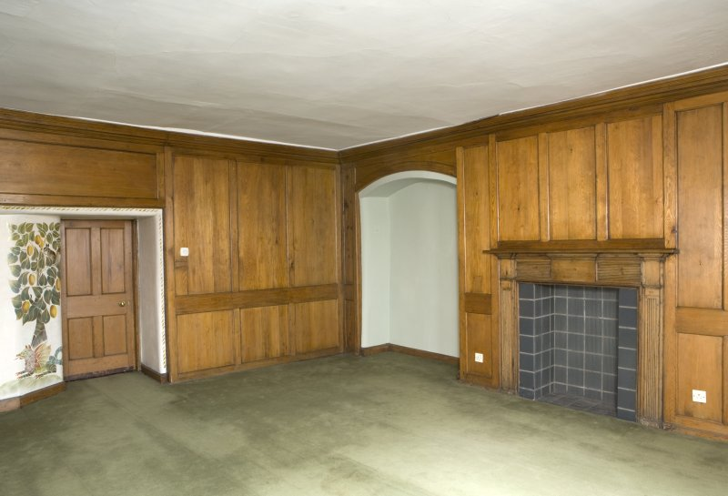 Interior. View of panelled entrance room