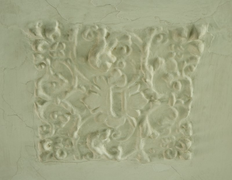 Interior. Detail of plaster ceiling