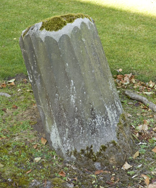 Detail of remains of pillar in garden