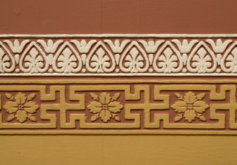 Interior. Detail of dado frieze