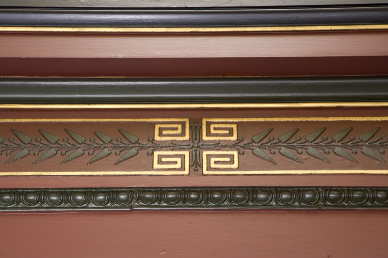Interior. Detail of cornice