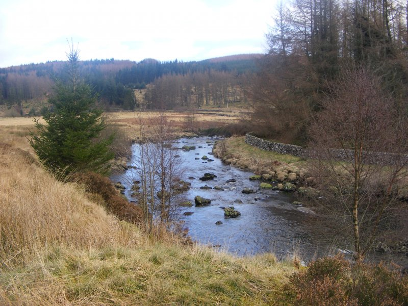 View of Polmaddy Burn.