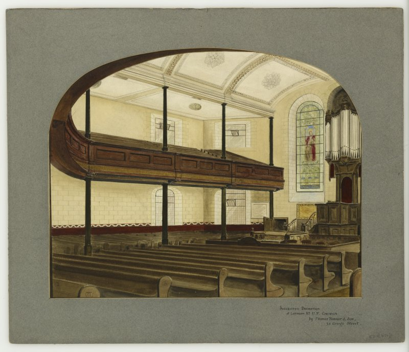 Suggested decoration for interior of Lothian Road United Free Church   Thomas Bonnar & Sons