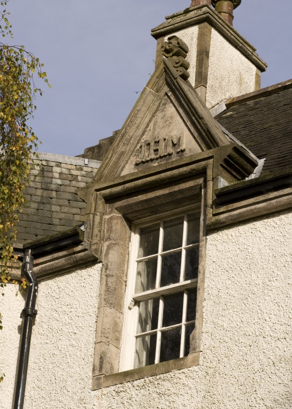 Detail of dormer window with initials