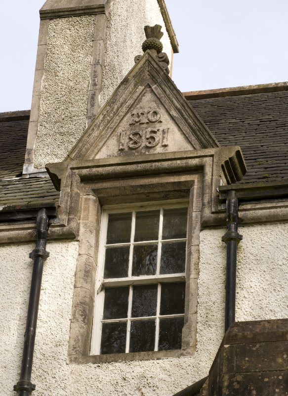 Detail of dormer window with 1851 date