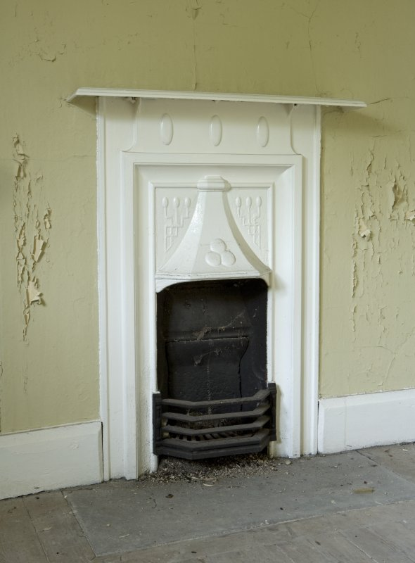Interior. Detail of servants wing fireplace