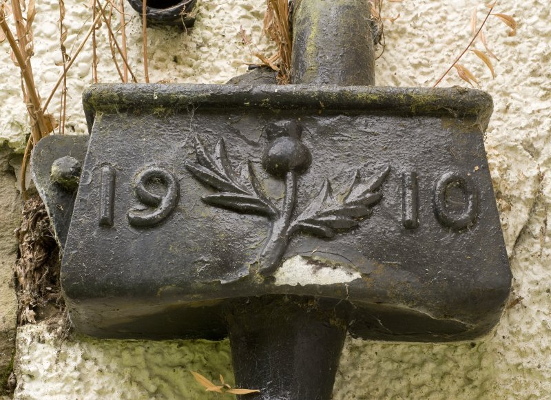 Detail of 1910 dated rainwater head