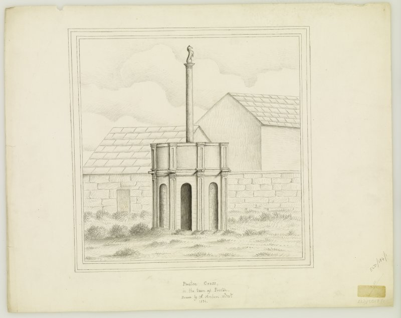Drawing of Preston Cross.