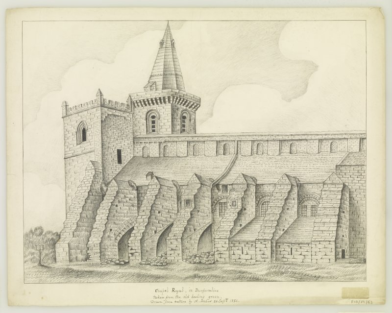 "South side of nave insc. ""drawn from nature by A.Archer, 26th Sept. 1834"""